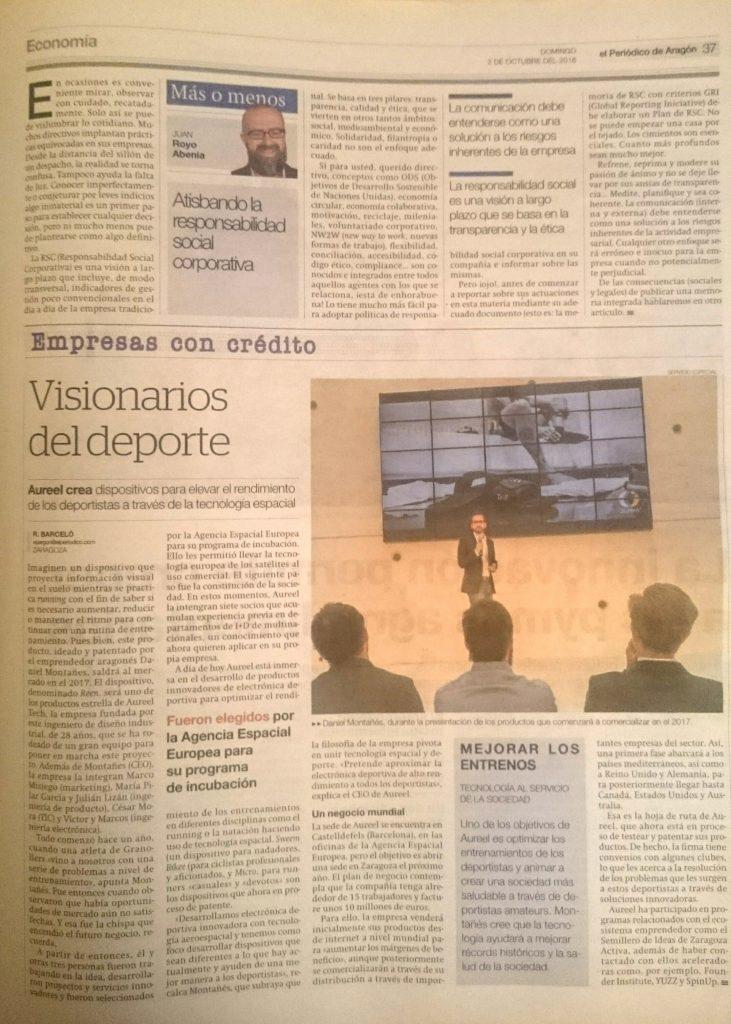 aureel in the local newspaper
